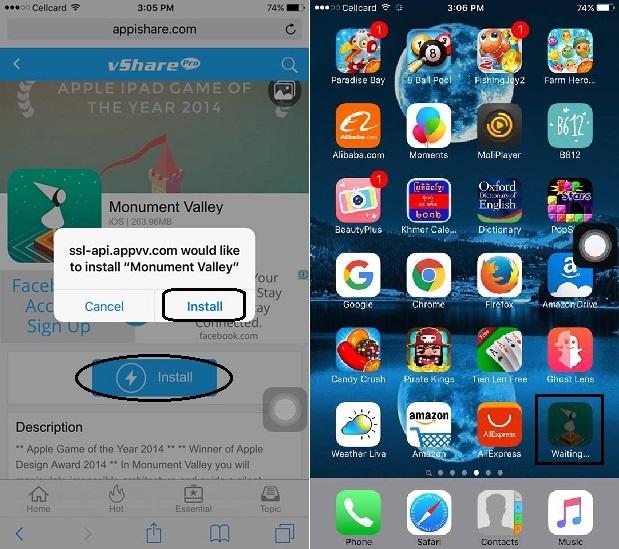 ក្តៅៗ! ពេលនេះអ្នកអាចទាញយកហ្គេម-កម្មវិធីដែលមានក្នុង App Store ដោយឥតគិតថ្លៃ និងមិនចាំបាច់ Jailbreak បានហើយ! (iOS 9 – 9.2.1)