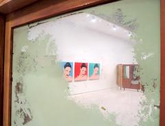 Grrl Trio (Georgie_grrl) Tags: girls toronto ontario window paintings explore ago trio colourful recycling cabinets artinstallation smudged marked songdong canonpowershotelph330hs mynewdarkpinkside communalcourtyard