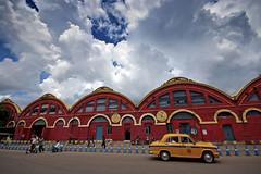 Kolkata, West Bengal (Kals Pics) Tags: street travel sky india car weather architecture clouds automobile pov perspective railwaystation vehicle ambassador kolkata roi westbengal howrah cwc yellowtaxi colorsofindia incredibleindia cityofjoy coloursofindia rootsofindia kalspics chennaiweelendclickers