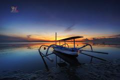 Jukung in Bali (Jose Hamra Images) Tags: sunset bali sunrise landscape denpasar sanur pantaikarang karangbeach