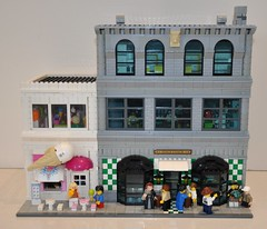 Stage Coach and Candy shop (V00D00M) Tags: lego modular