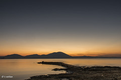 The little port of our childhood (t.valilas) Tags: sunset sea sky mountain port landscape coast seaside twilight rocks outdoor tranquility greece goldenhour artaki evia euboia euboea neaartaki newartaki