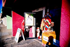 Store in Gilroy (jfpj) Tags: california red color film store fuji bright toycamera storefront gilroy vivitar plasticcamera trashcam fuji400film vivitarultrawideandslim