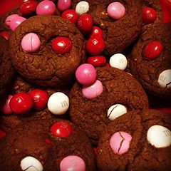 Happy Valentines Day Weekend ! (steamboatwillie33) Tags: pink red holiday kitchen cookies mms chocolate delicious homemade peanutbutter valentinesday baked 2016