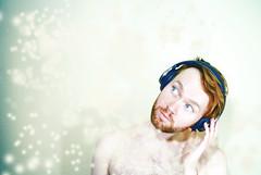 #doyouseeme2 (QuEpAsA Boy!) Tags: blue red shirtless music orange white naked beard ginger bokeh blueeyes redhead brushes headphones 365 365daysproject flickr365