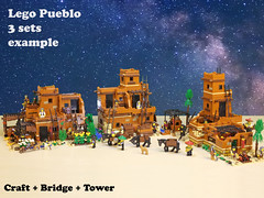 Lego Pueblo C1 (giorgio.chronas) Tags: arizona verde america mexico lego native pueblo western taos ideas acoma mesa zuni