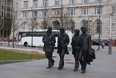 The Fab Four.  Beatles Statues, Pier Head, Liverpool (dickinsonjohn02) Tags: liverpool beatles pierhead fabfour