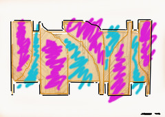 AND salmon (Shannon Ocean) Tags: color art word graffiti graf 80s font lettering combos