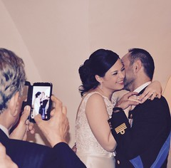 (Renato Di Raimondo) Tags: smile groom bride photo hugging hug uniform married military marriage happiness husband just