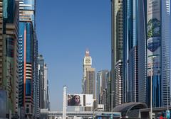 Dubai Metropolis 04 (Storkholm Photography) Tags: city urban building skyline architecture skyscraper train subway landscape 50mm big nikon downtown dubai cityscape metro transport uae railway structure line arab d750 metropolis emirate arabemirate