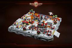 StarCraft II - Terran Dominion base (cecilihf) Tags: sc lego space micro scifi starcraft blizzard base sc2 terran moc vespene vespenegeysir