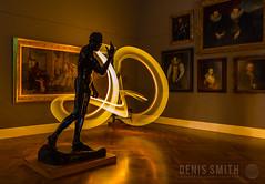 The Installation (biskitboy) Tags: lightpainting art gallery australia southaustralia rodin balloflight lapp artgalleryofsouthaustralia denissmith denissmithphotography