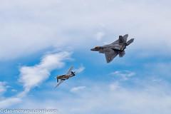 Heritage Flight P-51 Mustang and F-22 Raptor (Kukui Photography) Tags: arizona tucson airshow raptor f22 mustang davis afb p51 2016 davismonthanafb monthan dmafb heritageflight2016 openhousedmafb