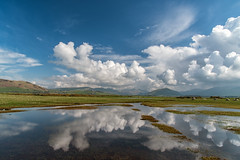 Cloudy Reflections (Howie Mudge LRPS) Tags: uk travel sky mountains reflection travelling tourism nature water grass wales clouds reflections river landscape outside outdoors nikon day bright postcard ngc cymru sunny hills walkabout d750 fields bracken fullframe polarizer gwynedd polariser tywyn marumi dysynni fantasticnature nikon24120mmvr