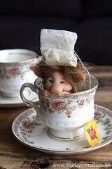 Teacup Troll (Shirleys Studio | Handmade Art Dolls) Tags: shirleysstudio shirleys studio beeldende kunst art artist grotto troll ooak dolls trollen trolletjes boswezens fantasy doll artdoll trol trolls figurine handmade