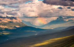 When Mountains meet the Sky (A Camera Story) Tags: sunlight canada mountains rainbow hiking telephoto alberta thunderstorm lakelouise nationalparks lakeagnes valleys banffnationalpark canadianrockies provincialparks sony70300mmf4556g sonydslta99