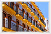 Lignes jaunes (GilDays) Tags: españa house yellow jaune town spain nikon balcony huelva andalucia espana andalusia maison balcon espagne ville andalousie d810 nikond810 anda0915