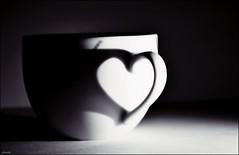 heart (franciska_bosnjak) Tags: shadow blackandwhite cup blackwhite nikon heart indoor d3100