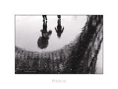Paris n10  Rain (Nico Geerlings) Tags: paris france rain umbrella reflections 50mm eiffeltower pluie toureiffel raining summilux champsdemars parijs eiffeltoren nicogeerlings leicammonochrom ngimages nicogeerlingsphotography