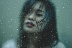 Untitled (Raev Yap) Tags: portrait woman art girl female canon dark asian shower photography indoor conceptual 60d