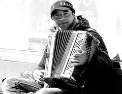 Street performance. (pstone646) Tags: blackandwhite man monochrome person kent streetphotography busker performer folkestone pepole
