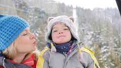 Fun in the gondola (Madleeeen) Tags: family winter snow ski cold austria skiing hats sunny amelie grandparents kaiser wilder sledge sledging