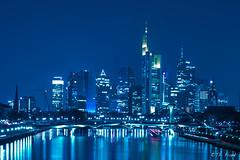 Blue Skyline.jpg (Grandblog) Tags: skyline canon eos lowlight european frankfurt central bank 5d ef 1740 ezb
