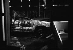 Yashica 35 YL camera VS Kabaottemulsion CINE XX BW film (caparobertsan) Tags: streetart factory kodak streetphotography ishootfilm trespass spraypaint trespassing yarraville getto kodakfilm ilovefilm notrespass burntcar disusedfactory rangefinderphotography blackandwhitephotgraphy yashicacameras cinestill monochromelove kodakrocks cameraotaku yashica35yl melbournehistory kabaottemulsion kodakcinemafilm kodakxxfilm cinestillxxfilm yaravillebradmill