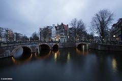 Amsterdam. (alamsterdam) Tags: longexposure amsterdam evening bridges keizersgracht ledsegracht