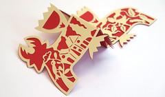 DSCF5040 (Elsita (Elsa Mora)) Tags: christmas paperart card redandwhite papercraft holidaycard papercutout elsita papercutting elsamora