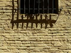 barred (Jef Poskanzer) Tags: window t geotagged alley bricks barred geo:lon=12240737 geo:lat=3779424