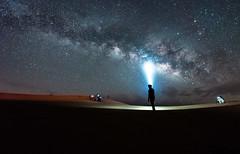 Me & the milky way (REZA2K3) Tags: longexposure desert uae abudhabi milkyway nig