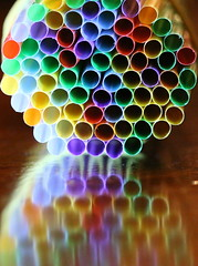 Straws reflect (Ray Duffill) Tags: reflection straws