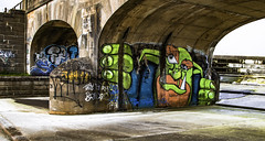 Pitsford Graffiti (Joe Panter) Tags: uk bridge urban art beautiful beauty architecture canon photography graffiti northampton artistic britain expression northamptonshire arches historic british names hdr highdynamicrange pitsford canon7dmkii joepanter