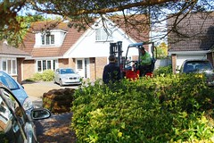 IMG_5313 (BCT260) Tags: grass garden outside digging bees working sunny turf angmering groundwork turfing regrassing layingturfs