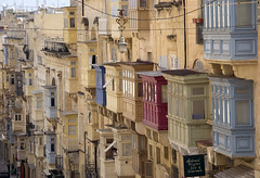 Valletta Balconies (albireo 2006) Tags: windows mediterranean malta balconies valletta