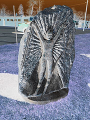 VASALOPPET SKIER CARVED IN A ROCK (Visual Images1) Tags: sculpture rock 6ws inverted ipiccy