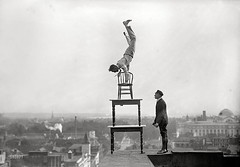 Balancing on the rooftop, Washington, D.C., 1917 [1800 x 1257] #HistoryPorn #history #retro http://ift.tt/1qpENk9 (Histolines) Tags: history rooftop dc washington x retro timeline 1800 balancing 1917 vinatage 1257 historyporn histolines httpifttt1qpenk9