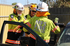 Road Crash Rescue Demonstration (adelaidefire) Tags: port fire south australian service years sa metropolitan brigade mfs 125 pirie samfs safb