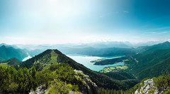 Alpen (pfn.photo) Tags: blue summer panorama sun lake mountains alps green landscape sommer cyan berge grn alpen blau bergsee landschaft sonne fernblick alpensee weitblick