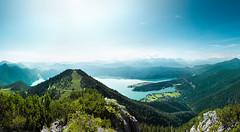 Alpen (pfn.photo) Tags: blue summer panorama sun lake mountains alps green landscape sommer cyan berge grn alpen blau bergsee landschaft sonne fernblick alpensee weitblick