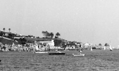 Corona del Mar and Newport Harbor, circa 1960 (Orange County Archives) Tags: california history newportbeach historical southerncalifornia orangecounty coronadelmar chinacove newportharbor orangecountyarchives orangecountyhistory kerckhoffmarinelaboratory