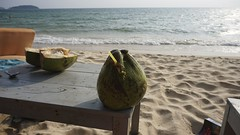 DSC03895 (picturesfrommars) Tags: beach cambodia kambodscha sihanoukville coconut a6000 selp1650