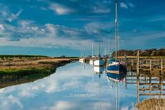 DSC_8895 (Adrian Royle) Tags: sky reflection water clouds creek river landscape coast boat nikon outdoor lincolnshire eastcoast skegness gibraltarpointnnr