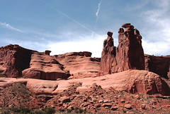 The Three Gossips (Jay Costello) Tags: landscape utah butte arches moab archesnationalpark threegossips