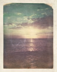 Day 7 - Say Goodnight, Not Goodbye (dreamscapesxx) Tags: polaroid instant atthebeach seaandsky beautifulevening supershooter polaroidweek aroundsunset thatglow polaroididuvfilm shimmerandshine redingtonbeachfl snapitseeit roidweek2016