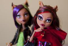 Nymeria & Accalia (Kyane) Tags: high wolf doll dolls monter clawdeen monsterhigh