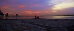 Tranquility (Sanjiban2011) Tags: morning sea sky seascape nature water skyline sunrise landscape dawn nikon waterfront outdoor horizon earlymorning corniche tamron doha qatar waterscape tamron1750 d7100