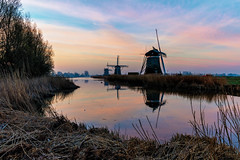 Three Windmills (adrianchandler.com) Tags: morning sky holland water netherlands windmill beautiful dutch sunrise reeds canal amazing exterior outdoor nederland peaceful windmills calm rushes waterway bankside leidschendam southholland adrianchandler canon5dsr