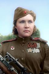 Soviet sniper Lyubov Makarova (klimbims) Tags: wwii ww2 femalesniper theredarmy   sovietsniper lyubovmakarova